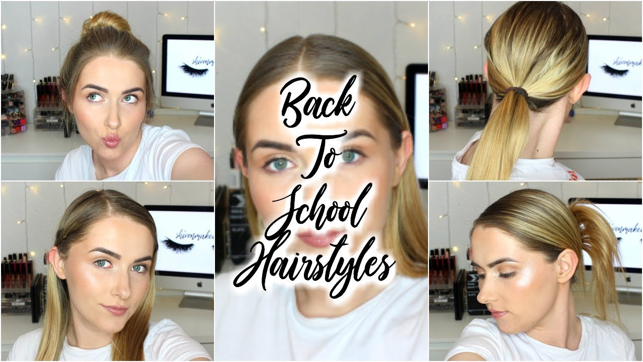 5 EASY Back To School Hairstyles WITHOUT BRAIDS