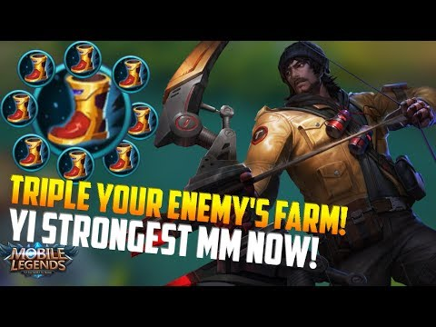 MUST HAVE ITEM ON YI TO TRIPLE YOUR FARM! MOBILE LEGENDS YI SUN-SHIN FRANTIC GL GAMEPLAY