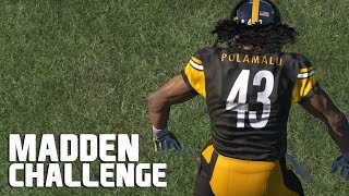 Can Troy Polamalu Blow up a QB Sneak? - Madden NFL Challenge