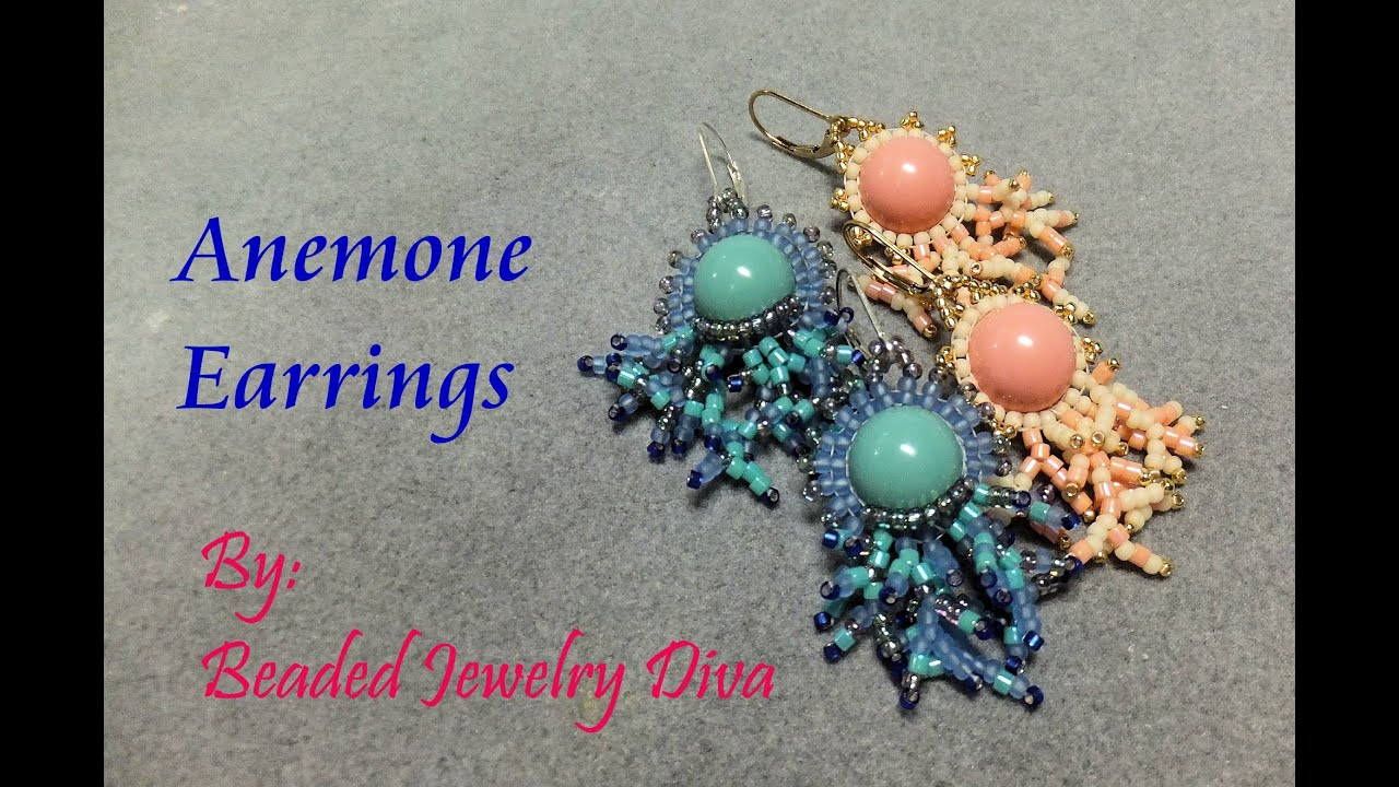 bead island stitch earrings comanche brick company