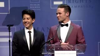 Anthony Martinez and Jacob Lescenski at the 2015 HRC Las Vegas Gala