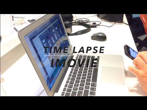 how to create a timelapse in imovie