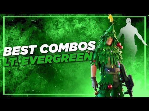 Best Combos   LT. Evergreen   Fortnite Skin Review