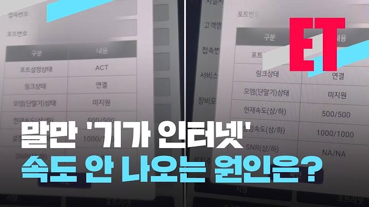 [ET] 말만 기가(G) 인터넷, 속도 불만 끓는다 / KBS 2021.05.04.