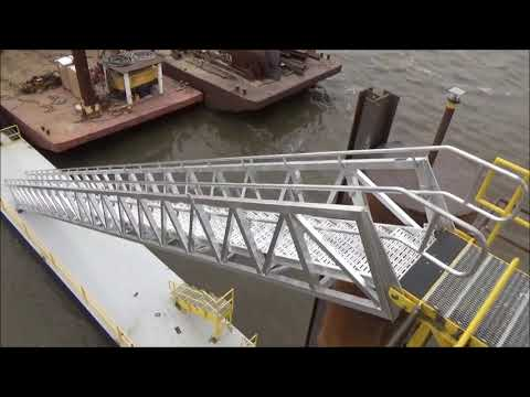 Truss Style Self Leveling Tread Accommodation Ladder | Gangways | Marine Gangway Manufactures