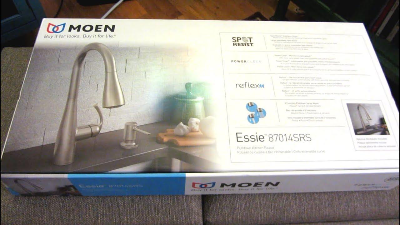 moen essie unboxing kitchen faucet model 87014srs