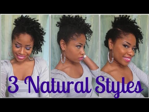 Tutorial 3 Quick Natural Hair Styles Short Med 3 Youtube
