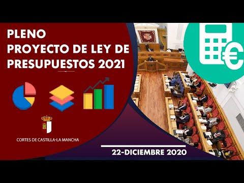 Pleno sobre el Proyecto de Ley de Presupuestos para 2021