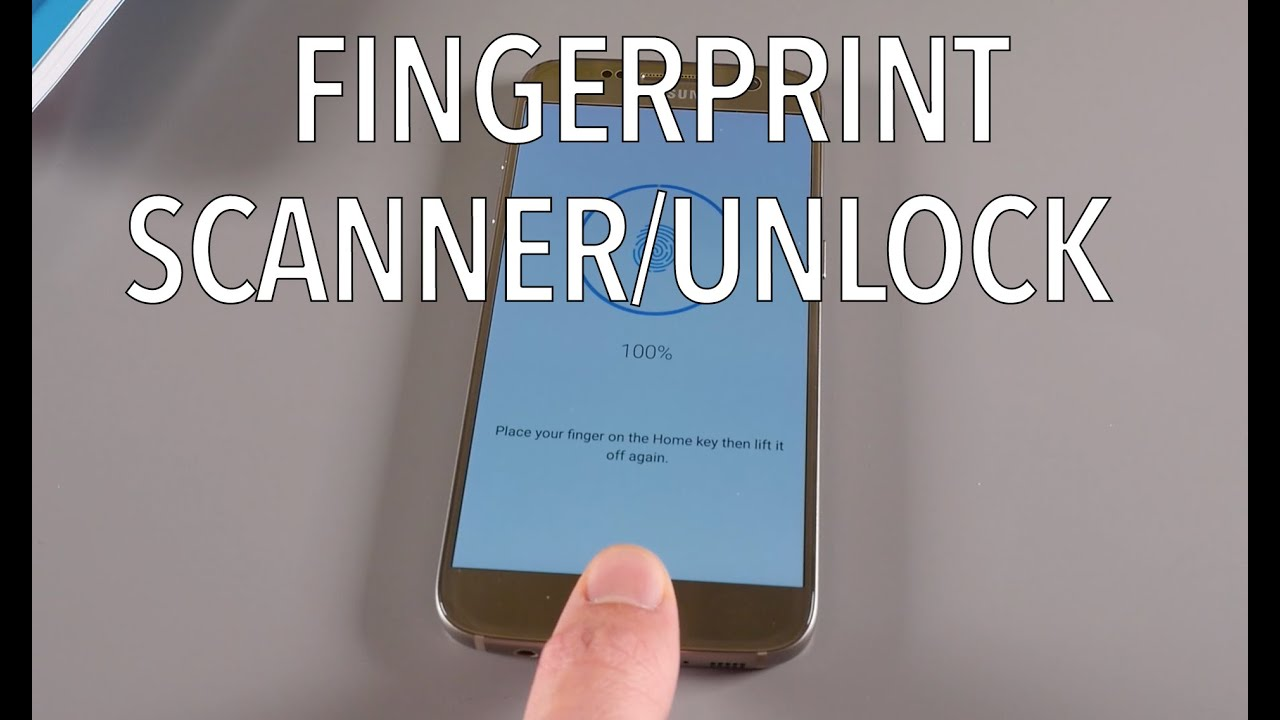 Samsung Galaxy S7 - How To Add Fingerprints And Setup Fingerprint Scanner /  Unlock
