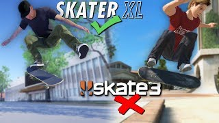 In Skater XL we have the free flip mode which allows us to do a lot...