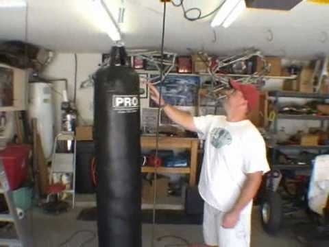 How to Hang a Muay Thai Heavy bag to your ceiling - YouTube