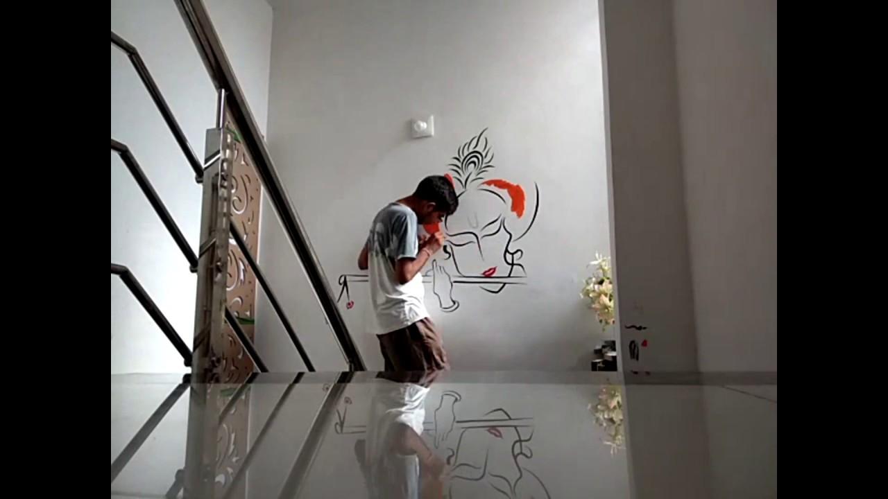 Lord Krishna Wall Painting Artwork