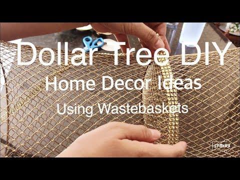 DOLLAR TREE DIY AMAZING HOME DECOR IDEAS USING WASTEBASKETS
