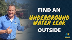 How To Find An Underground Water Leak