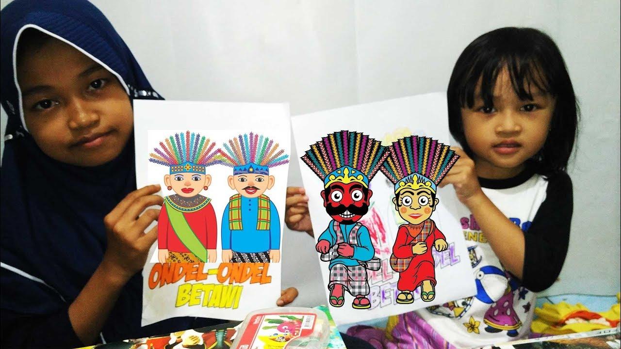 Belajar Mewarnai Ondel Ondel Learning Coloring Ondel Ondel Youtube