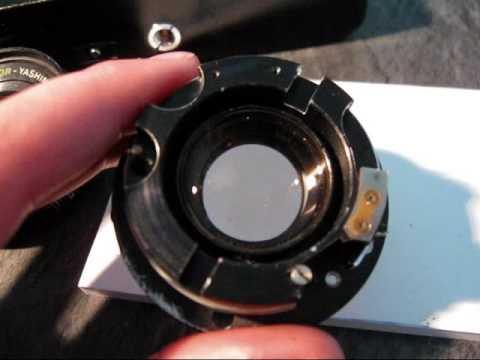large radioactive camera lens (thorium 232)
