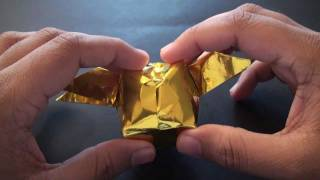 Origami Daily - 056: Harry Potter Golden Snitch (waterbomb Base) - Tcgames [hd]