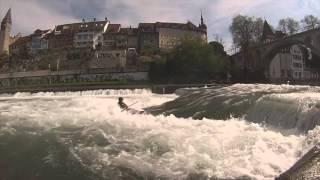 Kayaking Upper Bremgarten Wave