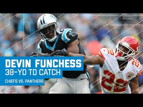 Cam Newton Finds Devin Funchess for a 38-Yard TD! | Chiefs vs. Panthers | NFL