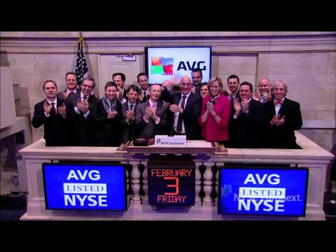 AVG Technologies celebrates IPO and rings the NYSE Opening Bell