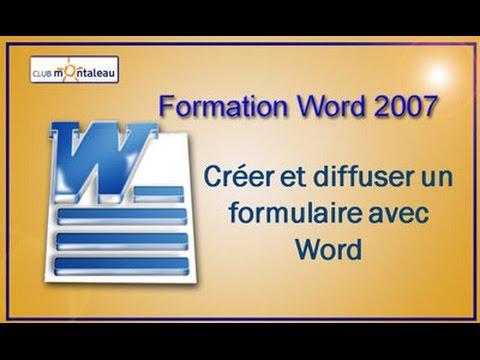 Cr er un formulaire avec word 2007 youtube - Ouvrir document open office avec word ...