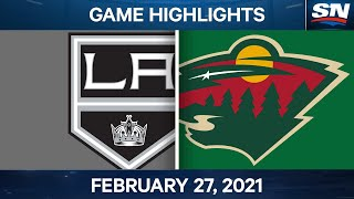 NHL Game Highlights | Kings vs. Wild - Feb. 27, 2021