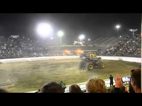 last monster truck run--Rock Star & California Kid