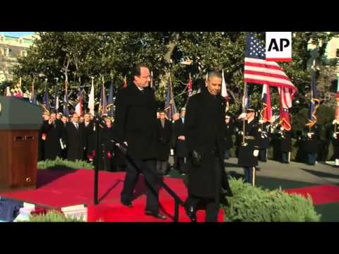 President Obama welcomes counterpart Hollande to White House