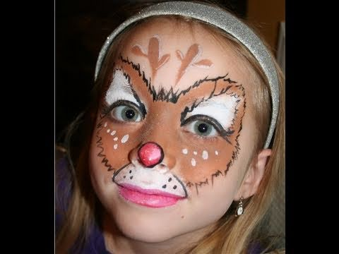 Easy Rudolph Face Paint