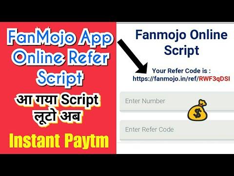 FanMojo Online Refer Script🔥 | Jaldi Looto Dosto