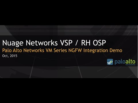 Nuage Networks VSP and Palo Alto Networks Virtualized Firewall Demo in Red Hat OpenStack environment