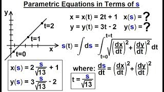 Calculus 3: Vector Calculus in 2D (33 of 39) Parametric Equation in Terms of s thumbnail