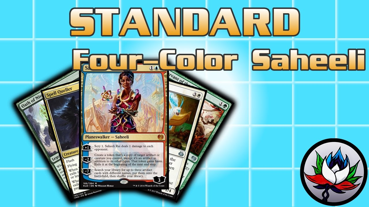 Mtg New Four Color Saheeli Combo Standard Deck Tech For Magic The Gathering Aether Revolt