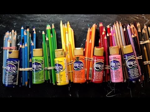 Art Supplies I Use in Coloring and Collage