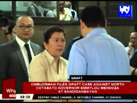 Ombudsman files graft case against North Cotabato Governor Emmylou Mendoza at Sandiganbayan