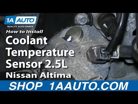 How To Replace Coolant Temperature Sensor 2.5L Nissan Altima