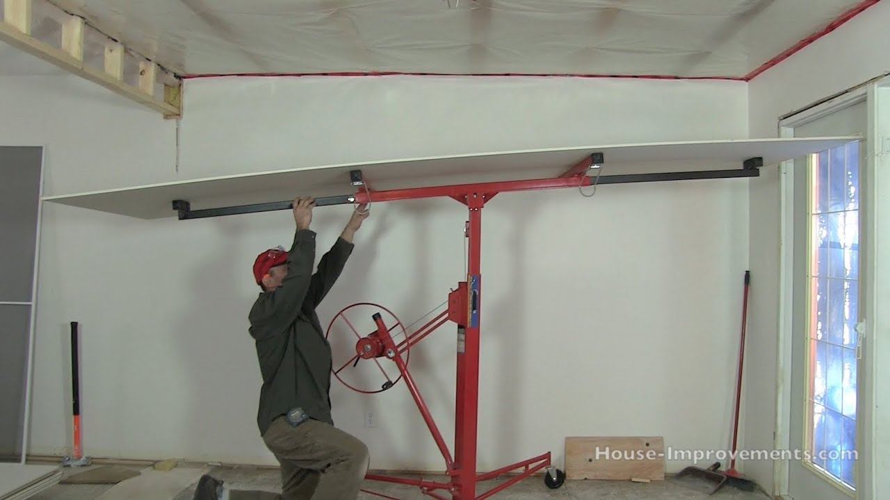 How To Use a Drywall Lift - YouTube
