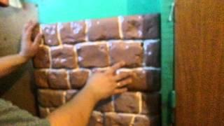 Утепление стен своими руками. Утеплитель Спец Панель Английский камень(Утеплитель Спец Панель изготовлен из жесткого пенополиуретана, окрашен фасадной эмалью и лаком. Готовый..., 2015-12-21T17:23:32.000Z)