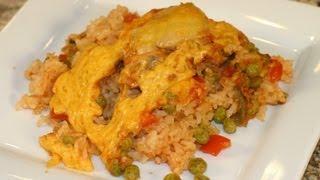 Arroz Con Pollo - Mexican Chicken And Rice Casserole by Rockin Robin