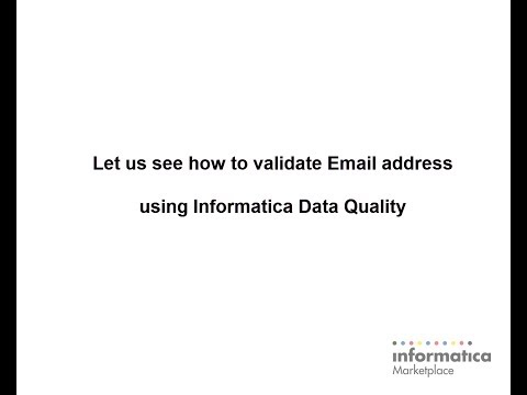 How to validate email addresses with Informatica mapplet