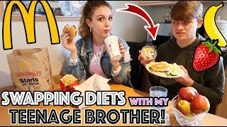 I SWAPPED DIETS WITH MY TEENAGE BROTHER FOR 24HOURS!