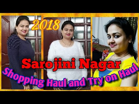 Sarojini Nagar Shopping Haul || Sarojini Nagar market Delhi || Sarojini nagar winter haul/ vlog 2018