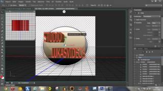 Criando uma Logomarca no Photoshop CS6, com efeito de texto 3D... Veja em HD
