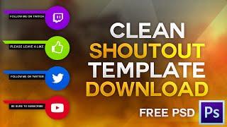 Free Clean Shoutout Sidebar Template + Speed Art