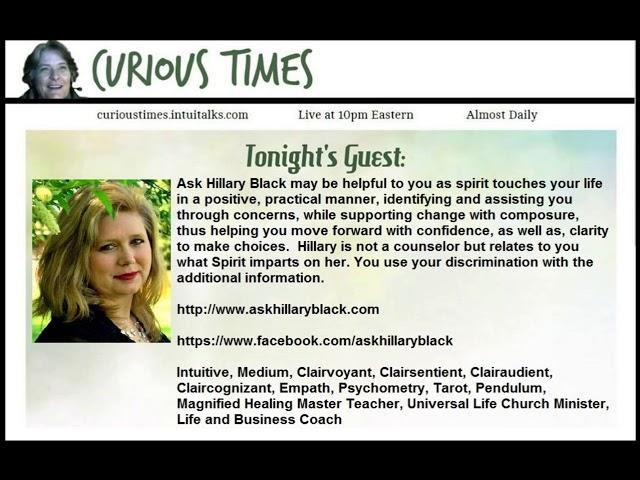 Curious Times – Medium, Healer and Coach, Hillary Black