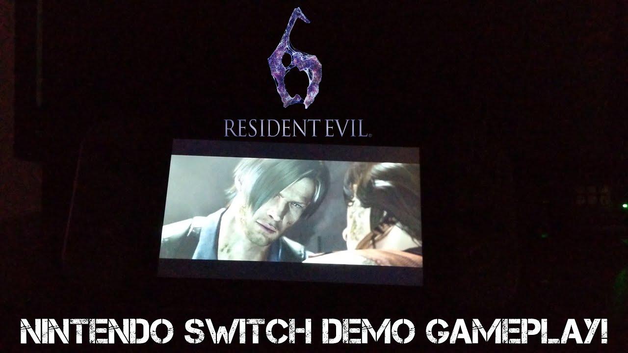 Resident Evil 6 Nintendo Switch Handheld Gameplay Demo Youtube