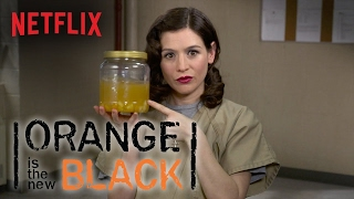 OITNB meets Unbreakable Kimmy Schmidt. The ladies of Litchfield pay tribute to Titus Andromedon's masterpiece, Peeno Noir. Watch Orange is the New Black: ...