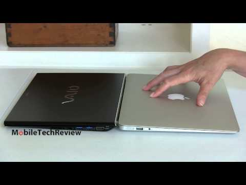 "Mid-2013 Apple MacBook Air 13"" vs. Sony VAIO Pro 13 Haswell Ultrabook Comparison Smackdown"
