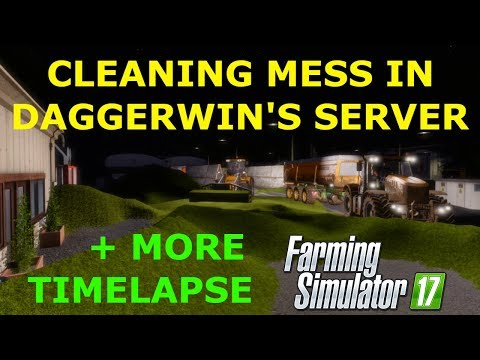 Farming Simulator 17 | Playing in Daggerwin's server (REAL) | Oakfield Farm | Timelapse