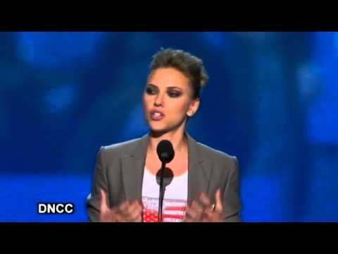 Scarlett Johansson DNC Speech: Vote for Obama